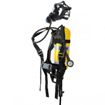 Drager PAS Lite SCBA w/2216 PSI 30 minute Aluminum Cylinder w/ mask
