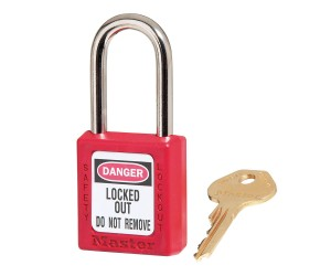 Red Zenex™ Thermoplastic Safety Padlock